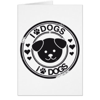 I (paw) dogs card