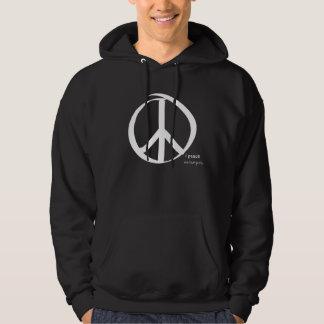 i peace white - eat love pray hoodie