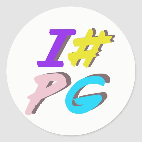 I # PG Sticker