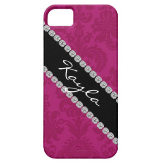 I phone 5 COVER TRENDY PINK DAMASK DESIGN iPhone 5 Case