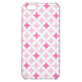 i Phone 5 Pink Geometric Pattern Cover For iPhone 5C