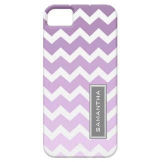 i Phone 5 Purple Ombre Chevron Custom Name iPhone 5 Case