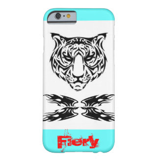 I Phone 6 case with Tiger in tribal art.