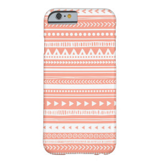i Phone 6 Vintage Tribal Stripes Pattern Coral Barely There iPhone 6 Case