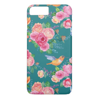 i-Phone 8 Plus/7 Plus - Birds & Butterflies (Blue) iPhone 8 Plus/7 Plus Case