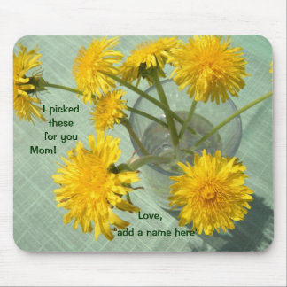 I Picked These for You! Dandelion Bouquet Mouse Pad