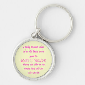 i pinky promise.. Keyring Silver-Colored Round Keychain