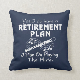 I Plan On Playing The Flute Throw Pillow