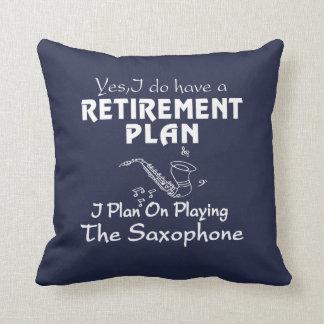 I Plan On Playing The Saxophone Throw Pillow