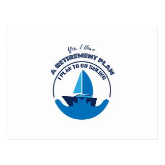 I Plan to Go Sailing Gif Men Women Postcard