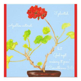 I Planted...God Kept Making it Grow Scripture Card