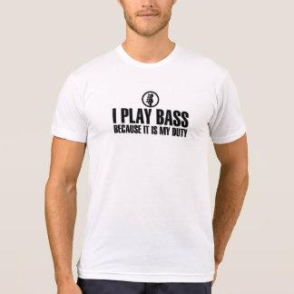 I Play Bass Black Color T-Shirt