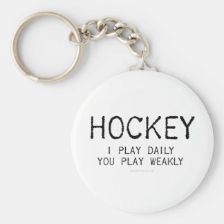 I Play Daily Hockey Keychain