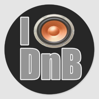 I PLAY DnB Drum and Bass music shirts and gear Round Sticker