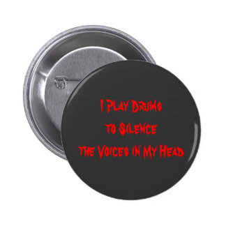 I Play Drums 2 Inch Round Button