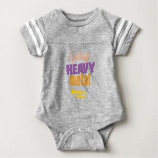 I Play Heavy Metal Funny Tuba Player Baby Bodysuit