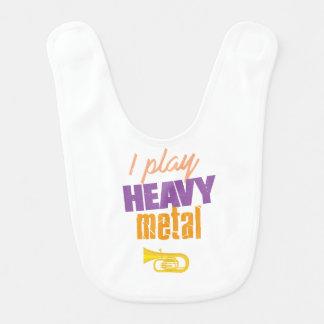 I Play Heavy Metal Funny Tuba Player Bib
