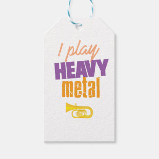 I Play Heavy Metal Funny Tuba Player Gift Tags