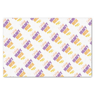 I Play Heavy Metal Funny Tuba Player Tissue Paper