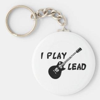 I Play Lead Guitar Keychain
