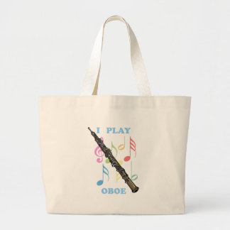I Play Oboe Large Tote Bag