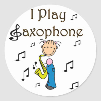 I Play Saxophone Stickers Sticker