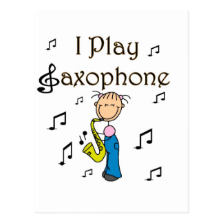 I Play Saxophone T-shirts and Gifts Post Cards