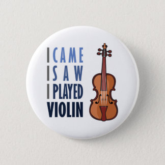 I Play Violin 2 Inch Round Button