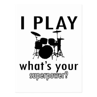 I play what's your superpower postcard