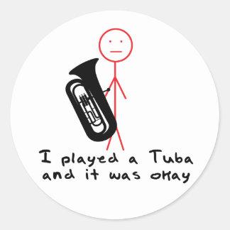 I Played a Tuba Classic Round Sticker