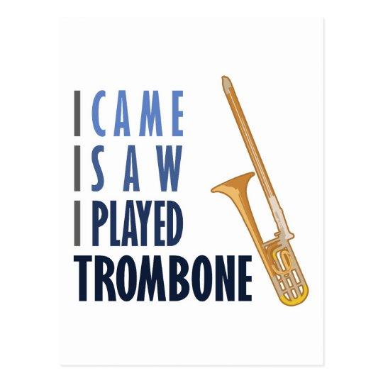 I Played Trombone Postcard