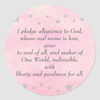 I pledge allegiance to God, stickers