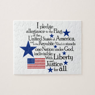 I pledge Allegiance to the flag Jigsaw Puzzle