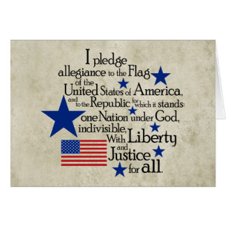 I pledge Allegiance to the flag Note Card