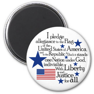 I pledge Allegiance to the flag of the United 2 Inch Round Magnet