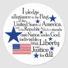 I pledge Allegiance to the flag of the United Classic Round Sticker