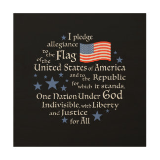 I PLEDGE ALLEGIANCE WALL PANEL