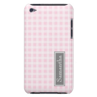 i Pod Touch Pink Gingham Custom Name iPod Case-Mate Case