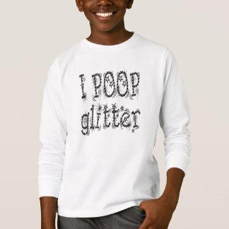 I Poop Glitter Unisex Kids Tee (black)