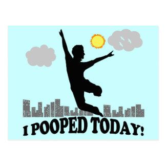 I Pooped aujourd'hui Cartes Postales