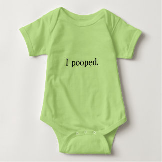 """""""I pooped"""" funny outfit Baby Bodysuit"""