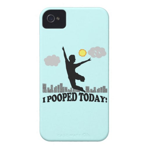 I Pooped Today iPhone 4 Cover