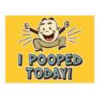 I Pooped Today Funny Toilet Humour Postcard