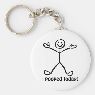 I Pooped Today Basic Round Button Keychain