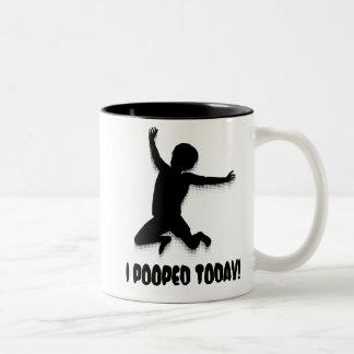 I Pooped Today! Two-Tone Mug