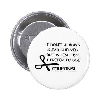 I PREFER COUPONS PIN
