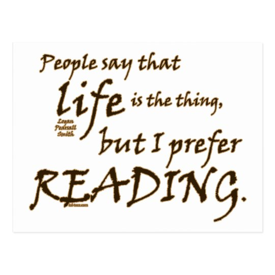 I Prefer Reading Postcard
