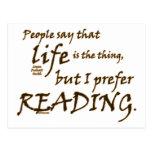 I Prefer Reading Postcards