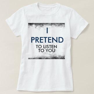 I PRETEND Women's basic T-Shirt