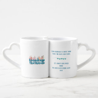 I promise to love you more every day. coffee mug set